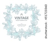 shabby chic. vintage square... | Shutterstock .eps vector #451723360