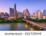 austin  texas  usa downtown... | Shutterstock . vector #451729549