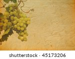 background with grapes - stock photo