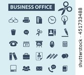 business office icons | Shutterstock .eps vector #451733488