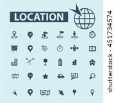location icons | Shutterstock .eps vector #451734574