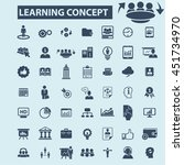 learning concept icons | Shutterstock .eps vector #451734970