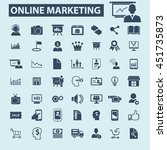 online marketing icons | Shutterstock .eps vector #451735873