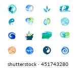alternative medicine and... | Shutterstock .eps vector #451743280