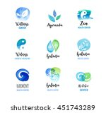 alternative medicine and... | Shutterstock .eps vector #451743289