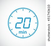 set of timers 20 minutes vector ... | Shutterstock .eps vector #451743610