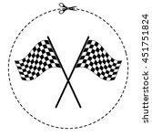 racing flag vector icon | Shutterstock .eps vector #451751824