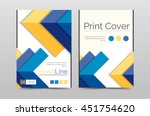 business annual report brochure ... | Shutterstock .eps vector #451754620