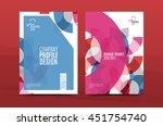 geometric mosaic design  a4... | Shutterstock .eps vector #451754740
