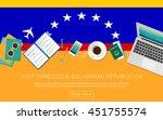 visit venezuela  bolivarian... | Shutterstock .eps vector #451755574