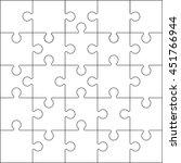 jigsaw section | Shutterstock .eps vector #451766944
