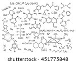hand drawn chemistry formulas... | Shutterstock .eps vector #451775848