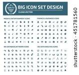 big icon set media icon finance ... | Shutterstock .eps vector #451781560