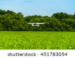 duster  small old plane for... | Shutterstock . vector #451783054