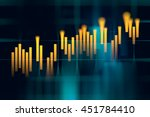 financial stock market graph on ... | Shutterstock . vector #451784410