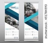 blue fold roll up business... | Shutterstock .eps vector #451784593