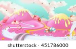 candy land. pink sweet... | Shutterstock .eps vector #451786000