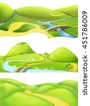 nature landscape  cartoon game... | Shutterstock .eps vector #451786009