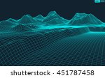 abstract vector wireframe... | Shutterstock .eps vector #451787458