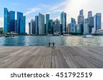 Singapore City Skyline Of...