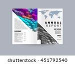 geometric cover background ... | Shutterstock .eps vector #451792540
