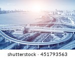 city highway interchange in... | Shutterstock . vector #451793563