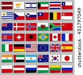 famous country  a set of flags. ... | Shutterstock .eps vector #451797049