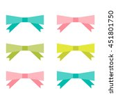 bright bows collection. vector... | Shutterstock .eps vector #451801750