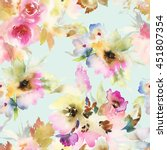 seamless pattern with flowers... | Shutterstock . vector #451807354