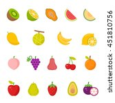 color icon set   fruits | Shutterstock .eps vector #451810756