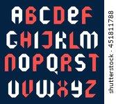 alphabet. geometric design....   Shutterstock .eps vector #451811788