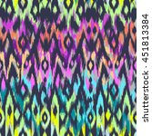 cool ikat pattern design  ... | Shutterstock .eps vector #451813384