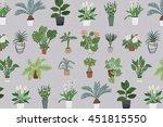 home plants pattern | Shutterstock .eps vector #451815550
