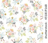 seamless floral pattern. vector ... | Shutterstock .eps vector #451819168