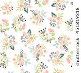 seamless floral pattern. vector ... | Shutterstock .eps vector #451819318