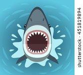 vector illustration of shark... | Shutterstock .eps vector #451819894