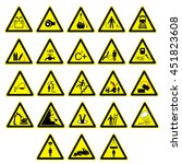 signs giving warning | Shutterstock .eps vector #451823608