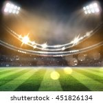 lights at night and stadium 3d | Shutterstock . vector #451826134