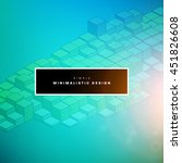 geometric vector background.... | Shutterstock .eps vector #451826608