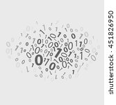 binary code with abstract... | Shutterstock .eps vector #451826950