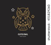 Cute Funny Owl Illustration Of...