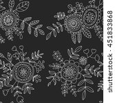 doodle pattern with flower and...   Shutterstock .eps vector #451833868