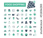 food shopping icons | Shutterstock .eps vector #451836283