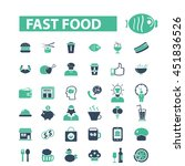 fast food icons | Shutterstock .eps vector #451836526