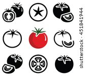 tomato vegetable icon... | Shutterstock .eps vector #451841944