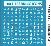 learning icons | Shutterstock .eps vector #451845610