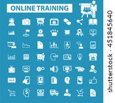 online training icons | Shutterstock .eps vector #451845640
