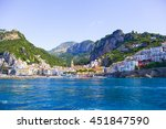 view from the sea on the cozy... | Shutterstock . vector #451847590