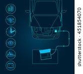 automotive diagnostic repair... | Shutterstock .eps vector #451854070