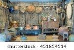 poor lighting of thai rustic... | Shutterstock . vector #451854514